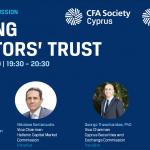 «Κερδίζοντας την Εμπιστοσύνη των Επενδυτών» - Διαδικτυακή ημερίδα του CFA Society Cyprus